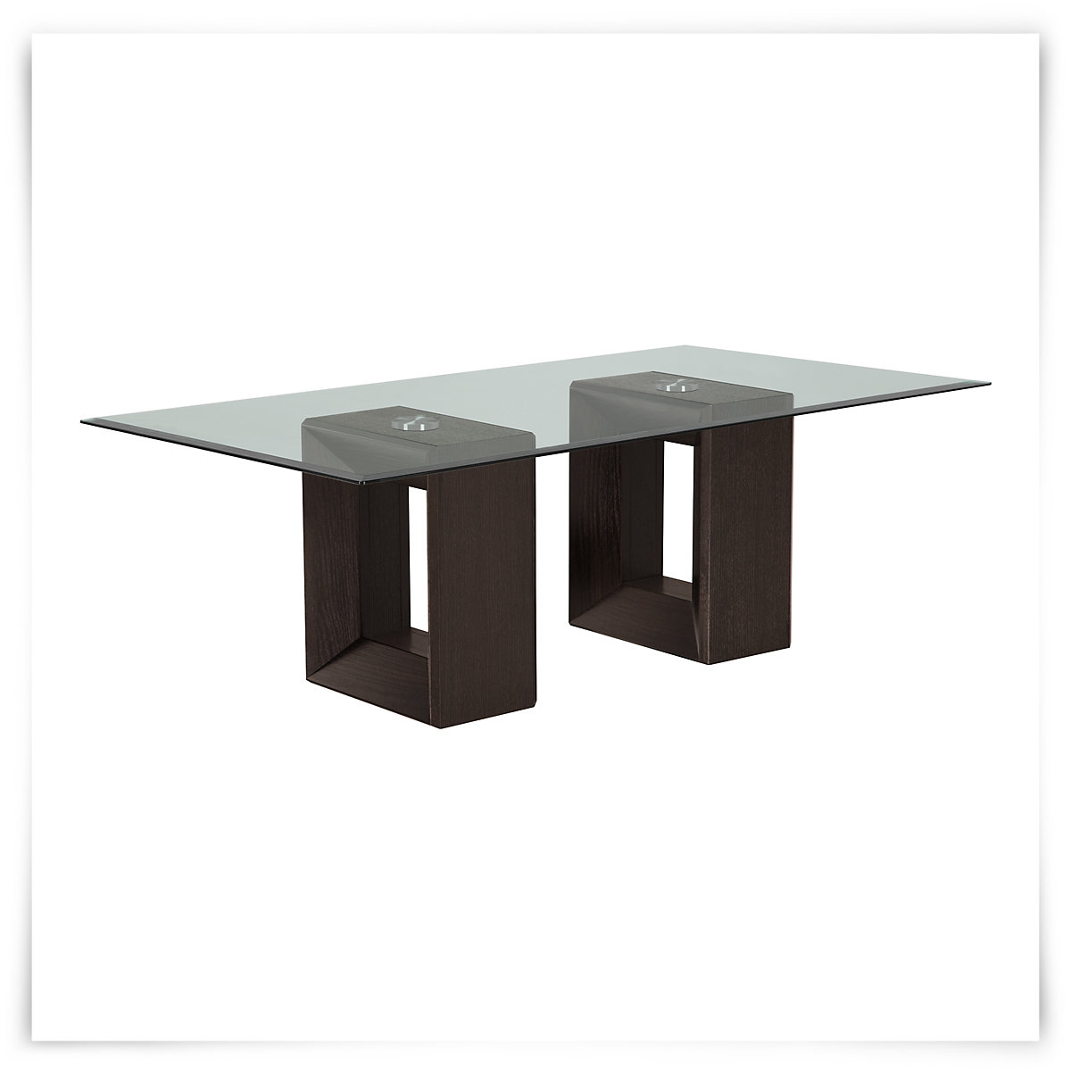 City Furniture Adele2 Dark Tone Glass Coffee Table