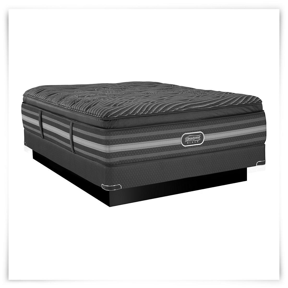 City Furniture Natasha Luxury Plush Innerspring Pillow Top Low Profile Mattress Set