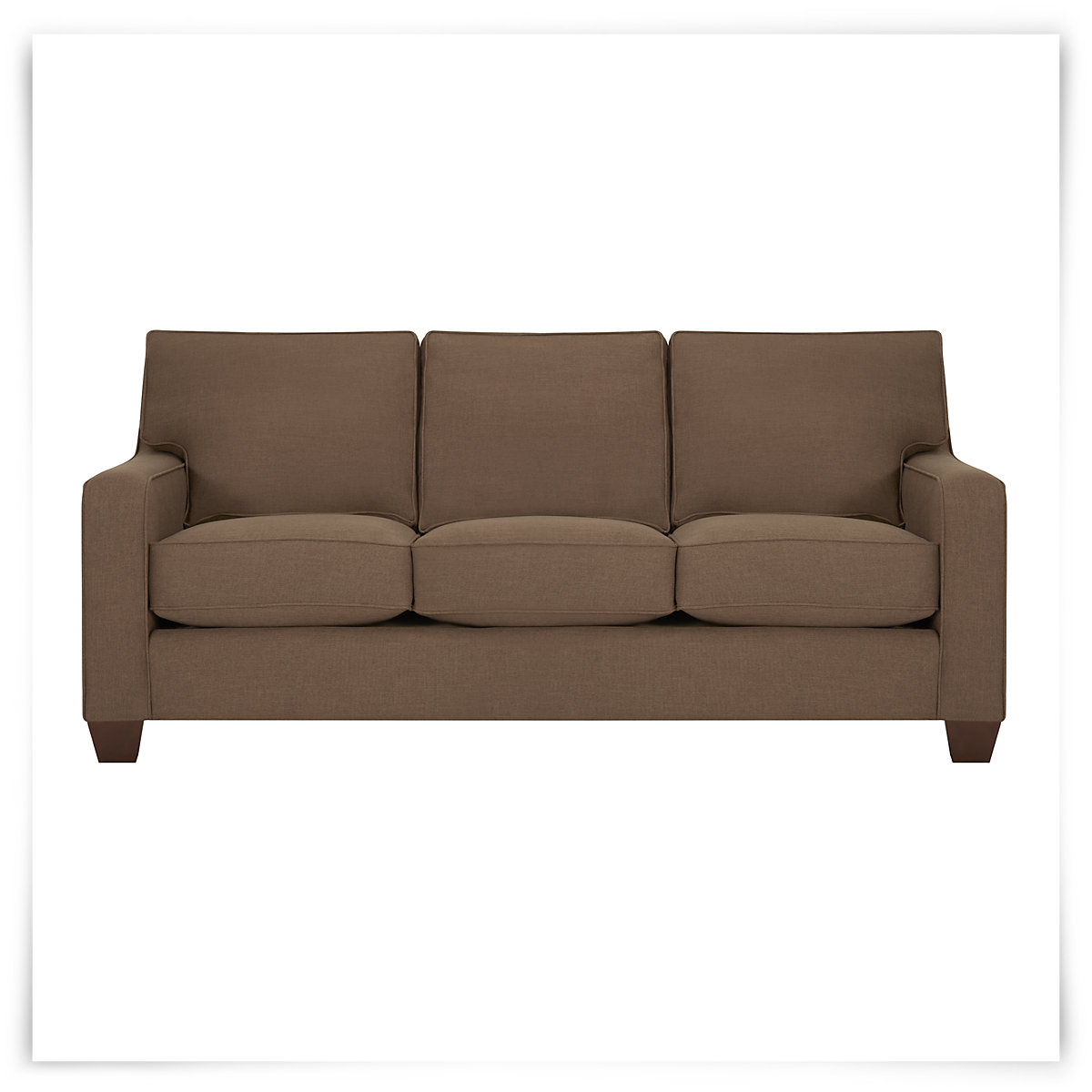 City Furniture York Dk Brown Fabric Memory Foam Sleeper