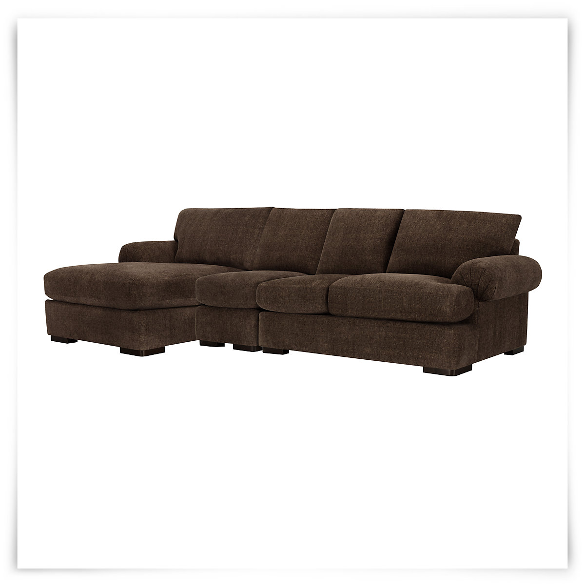 City furniture belair dk brown microfiber small left for Brown microfiber sectional with chaise