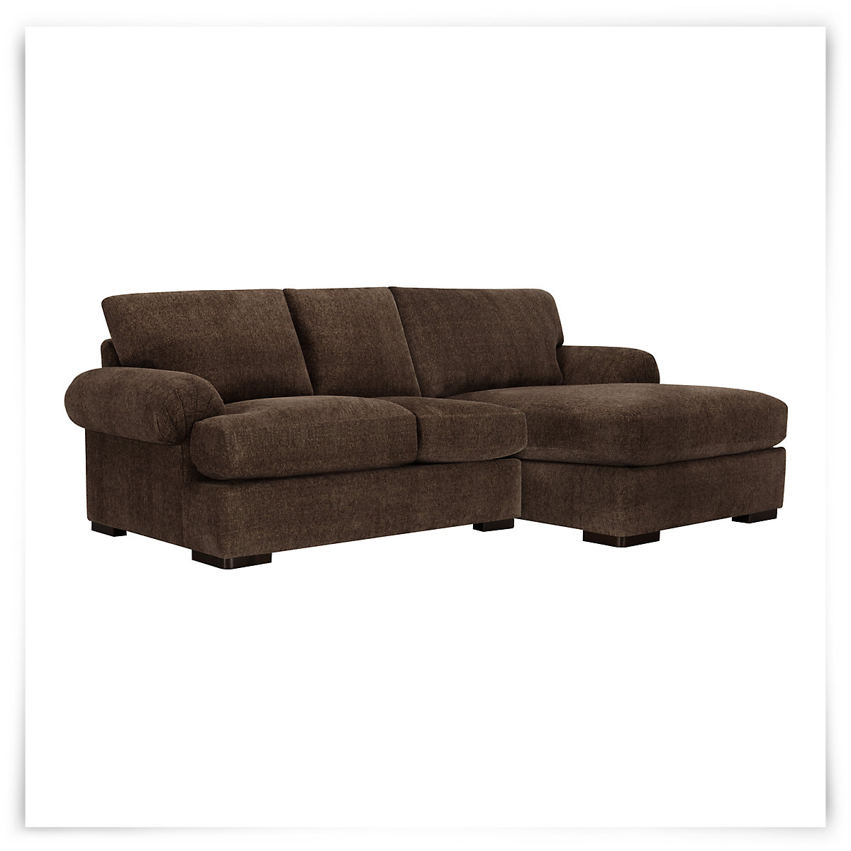 City furniture belair dk brown microfiber right chaise for Brown microfiber sectional with chaise