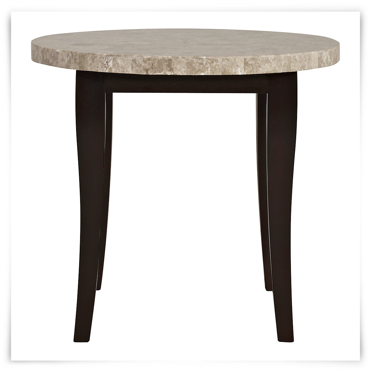 monark round marble high dining table