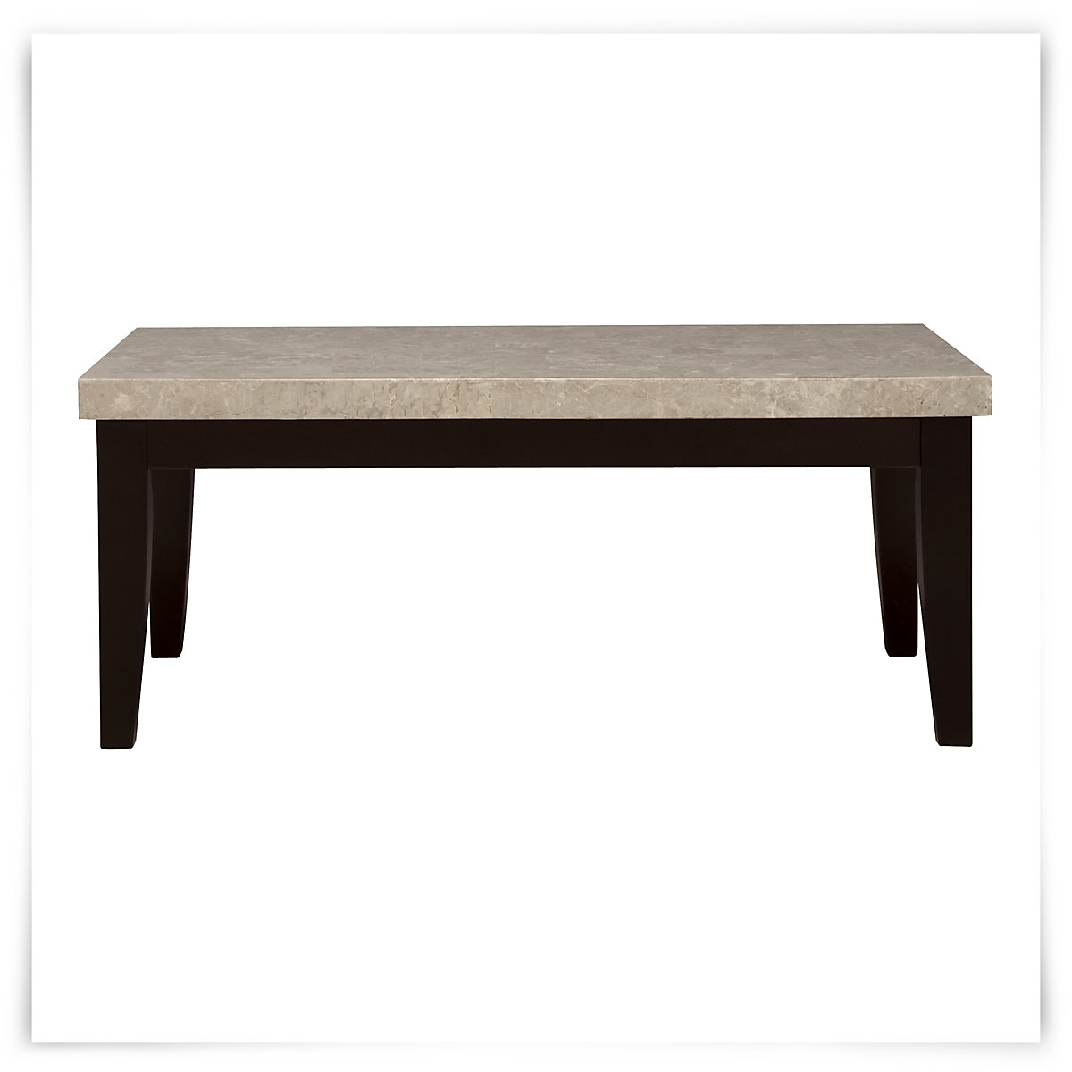 Harvey Probber Marble Top Rectangular Coffee Table W: Monark Marble Rect Coffee Table