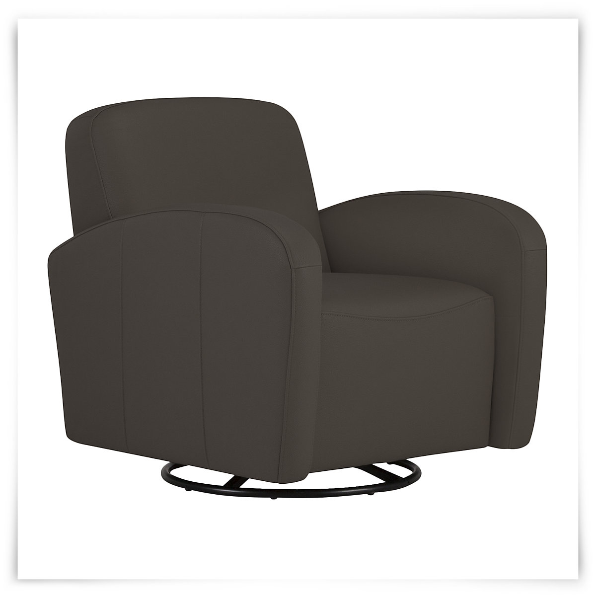 City Furniture Axis Dk Gray Vinyl Swivel Accent Chair