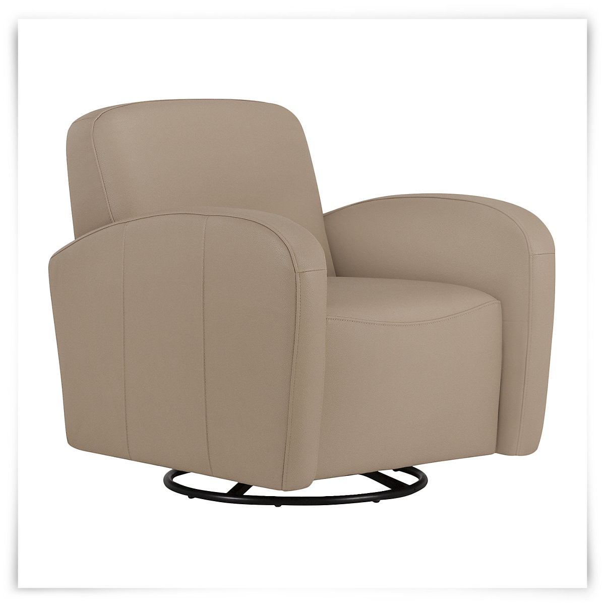City Furniture Axis Lt Taupe Vinyl Swivel Accent Chair