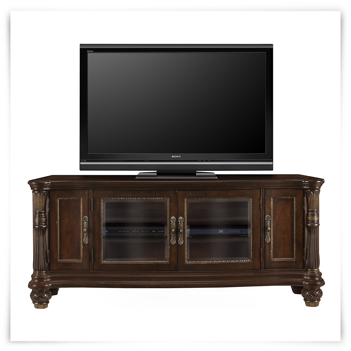 City furniture tradewinds dark tone 70 tv stand for Tv furniture