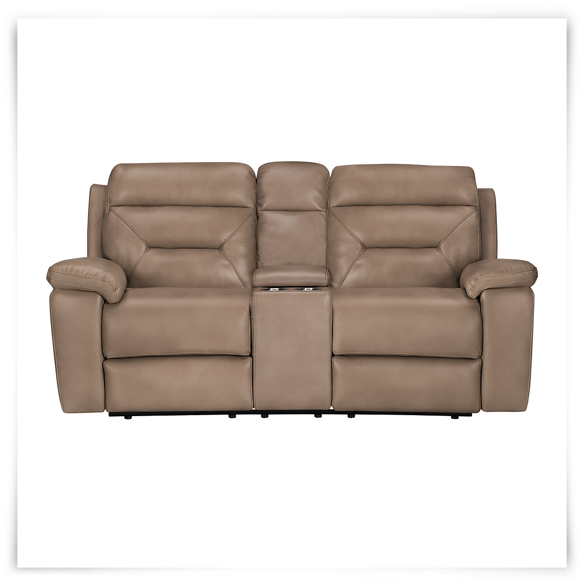 City Furniture: Phoenix Dk Beige Microfiber Reclining