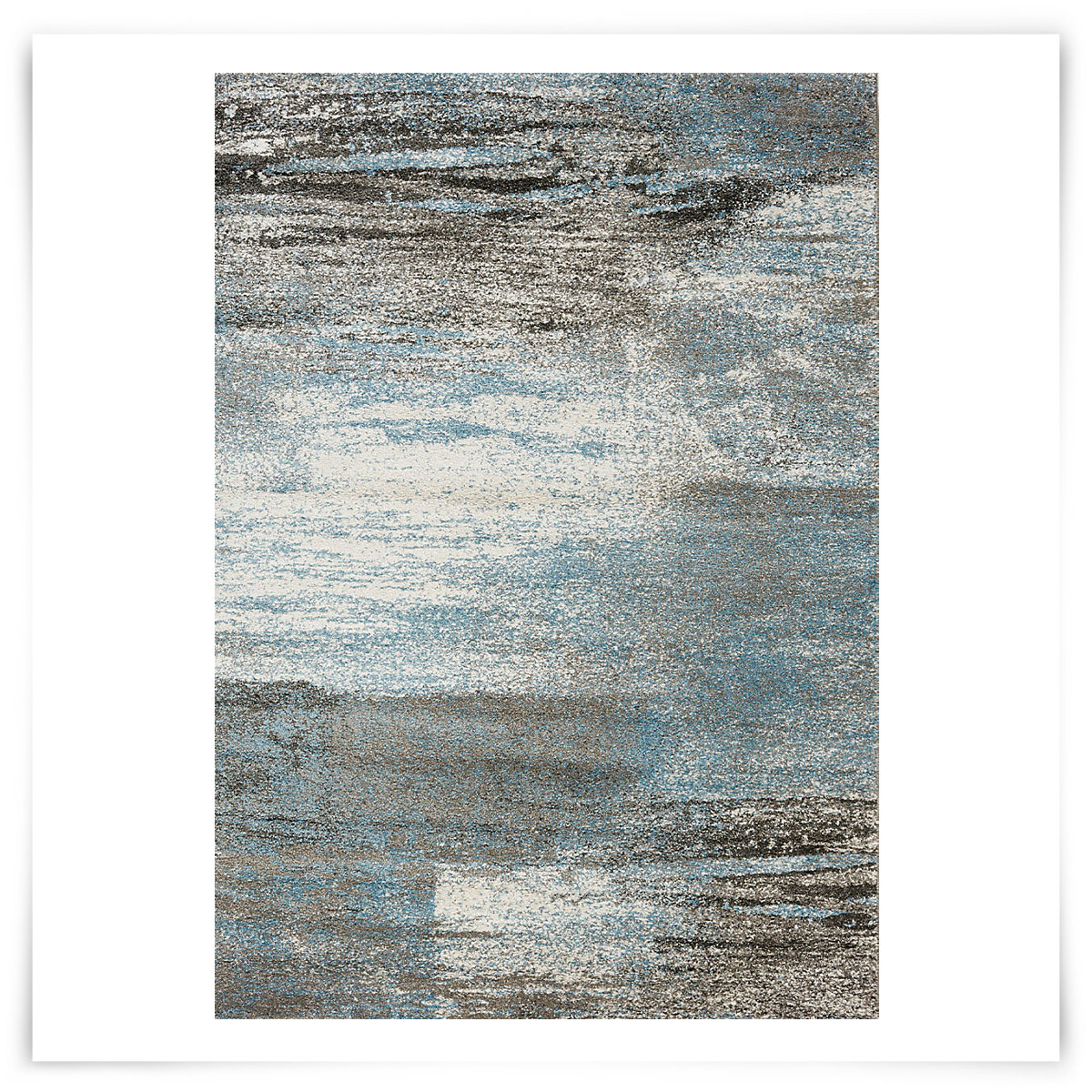 City Furniture: Breeze Blue 5X8 Area Rug