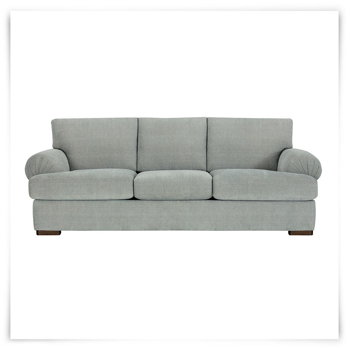 City Furniture Belair Lt Blue Microfiber Sofa
