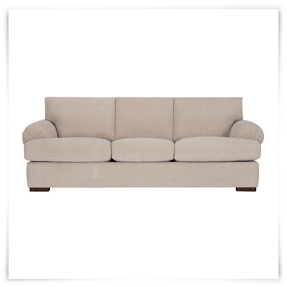 City Furniture Belair Lt Taupe Microfiber Sofa