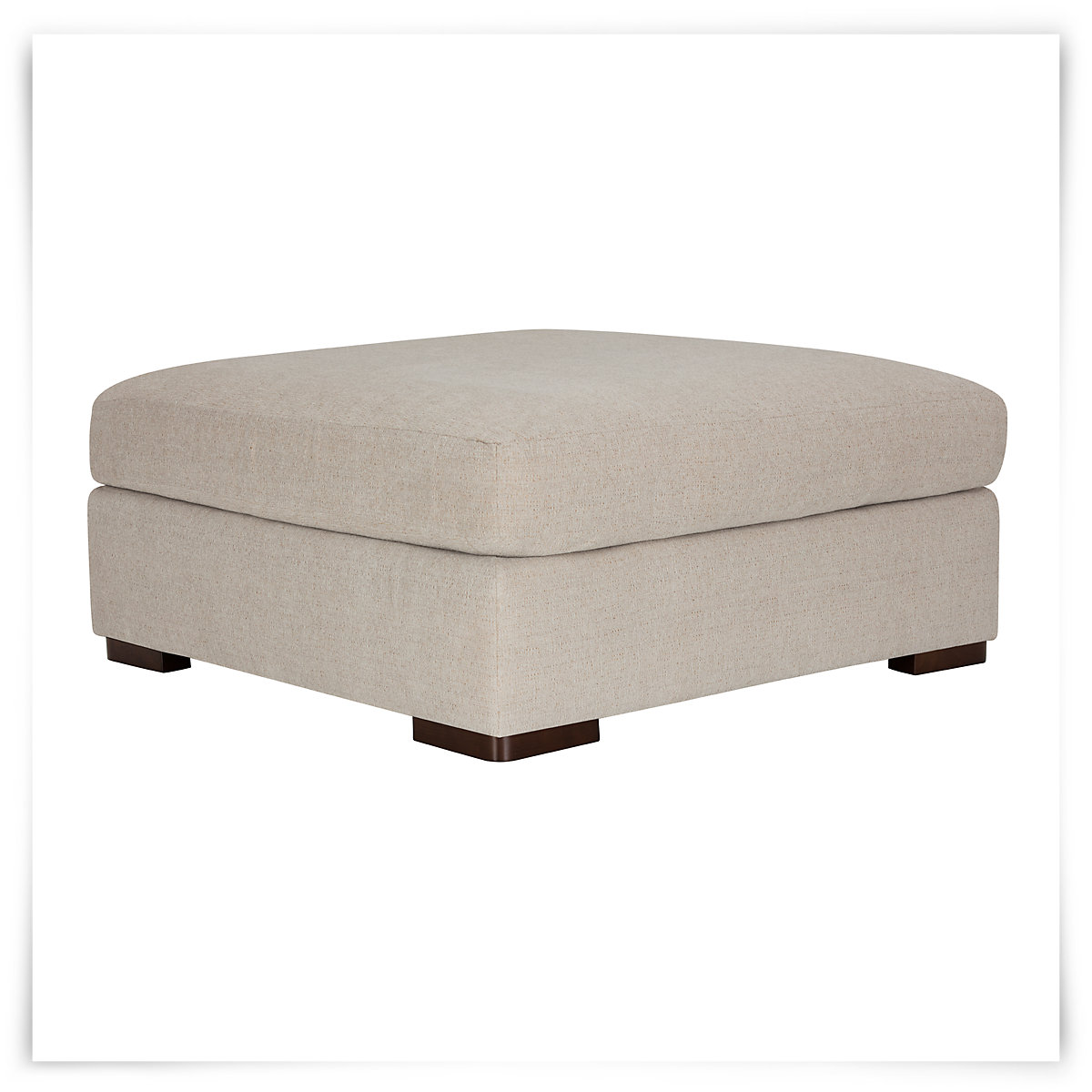 City Furniture Belair Lt Taupe Microfiber Cocktail Ottoman