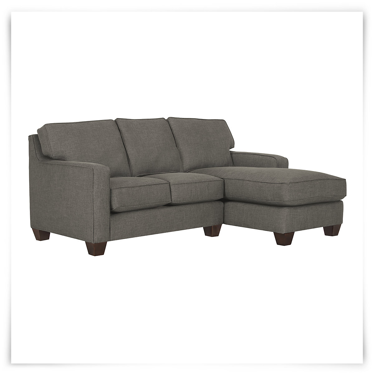 City furniture york dk gray fabric small right chaise for Chaise york