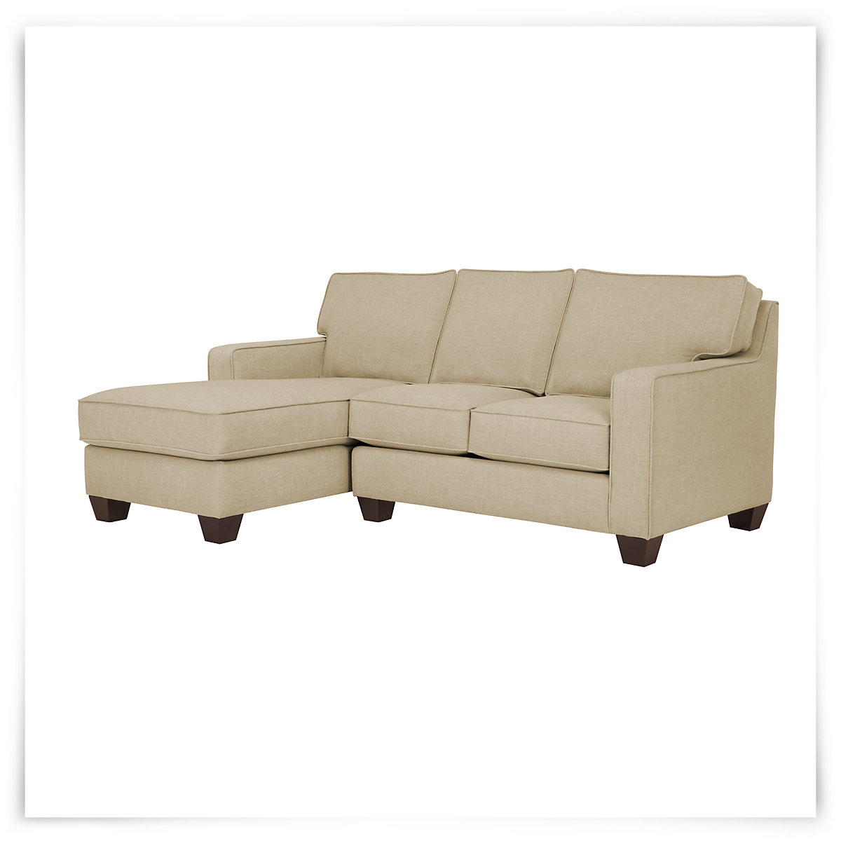 City furniture york beige fabric small left chaise sectional for Beige sectional with chaise
