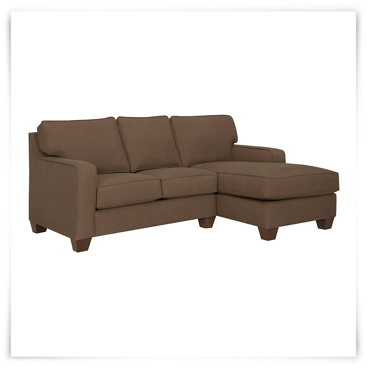 City furniture york dk brown fabric small right chaise for Chaise york