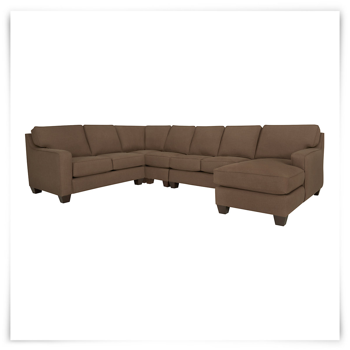 City furniture york dk brown fabric large right chaise for Chaise york