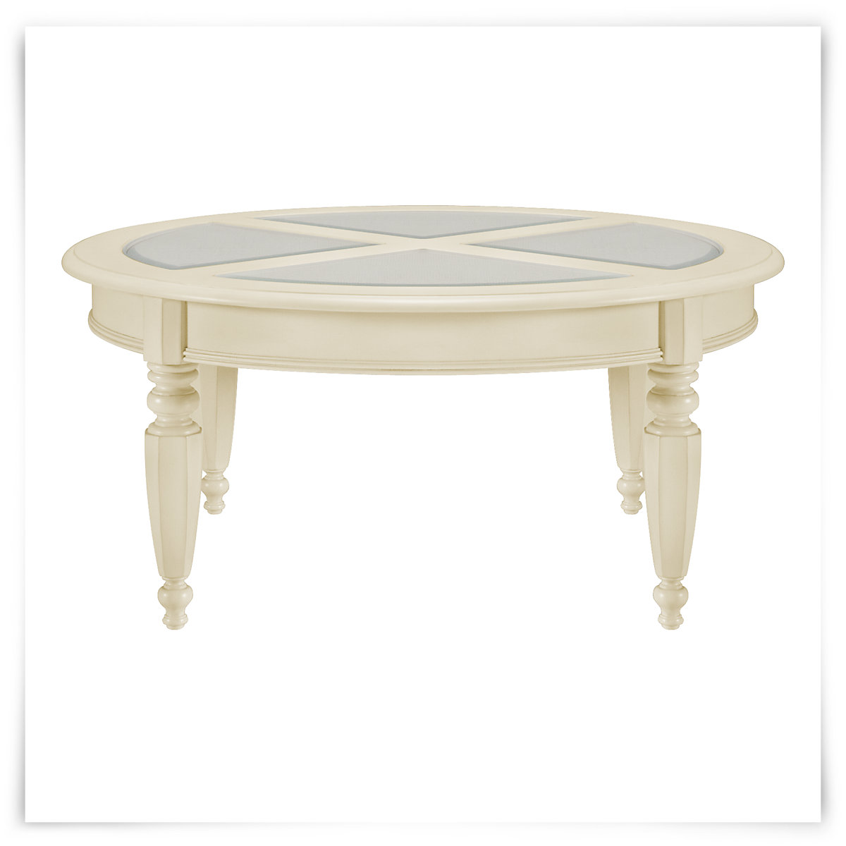 City Furniture Claire White Round Coffee Table