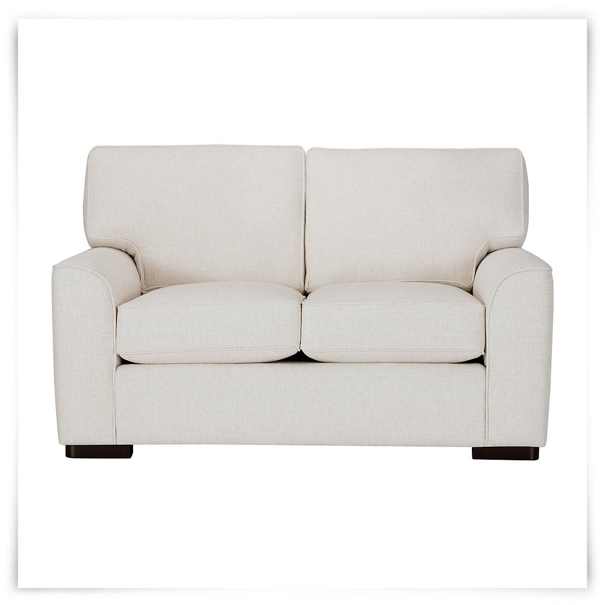 City Furniture Austin White Fabric Loveseat