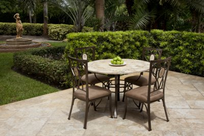 brookside round stone table 4 chairs rh cityfurniture com city furniture patio table city furniture patio chairs