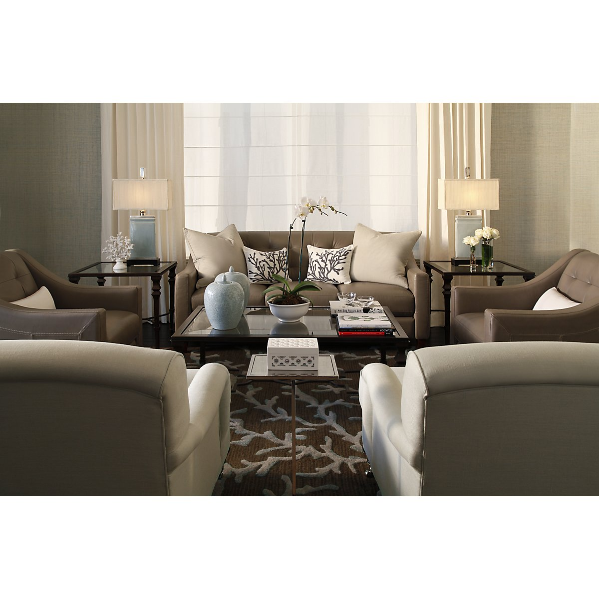 Pewter leather living room elise pewter leather living room geotapseo Choice Image
