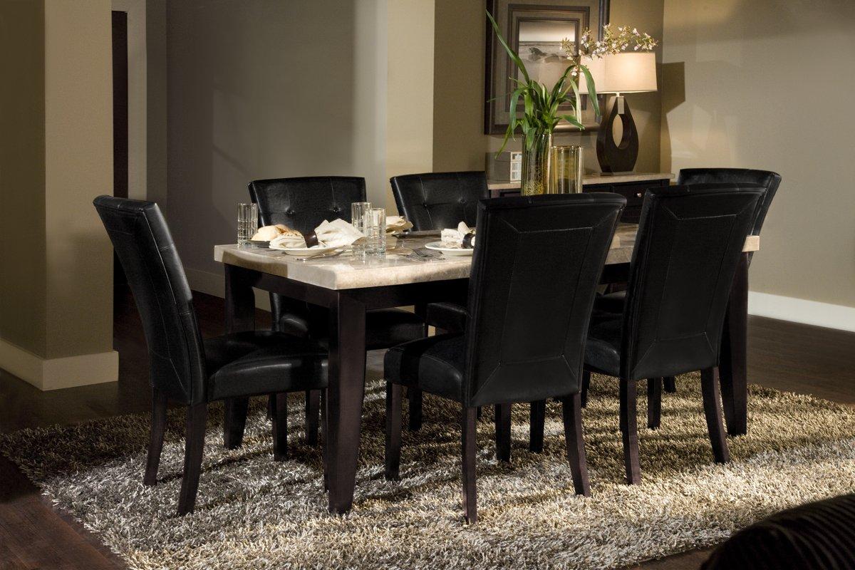 monark rect marble dining room