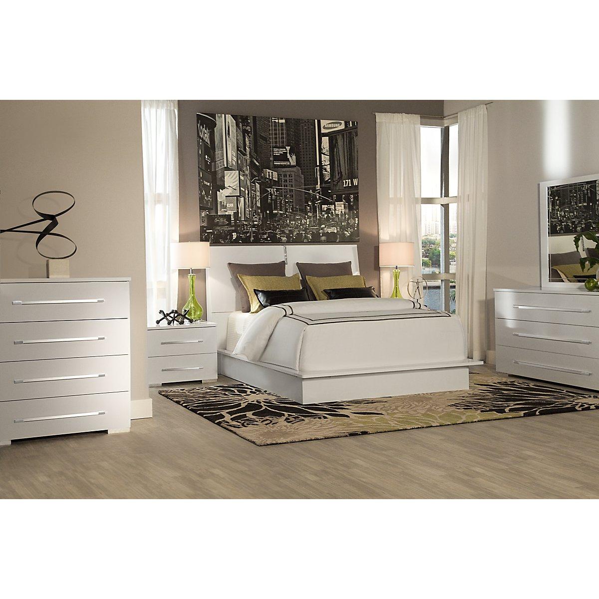dimora white dresser  mirror bedroom furniture set
