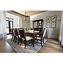 Canyon Dark Tone Rectangular Table & 4 Wood Chairs