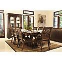 Belmont Dark Tone Rectangular Table & 4 Wood Chairs