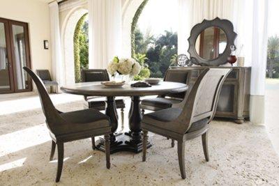 Belgian Oak Light Tone Round Table U0026 4 Sloped Chairs