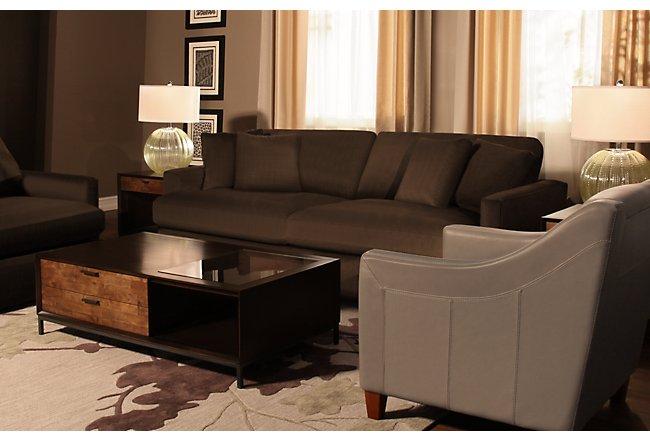 Tara2 Dark Brown Microfiber Sofa | Living Room - Sofas | City Furniture