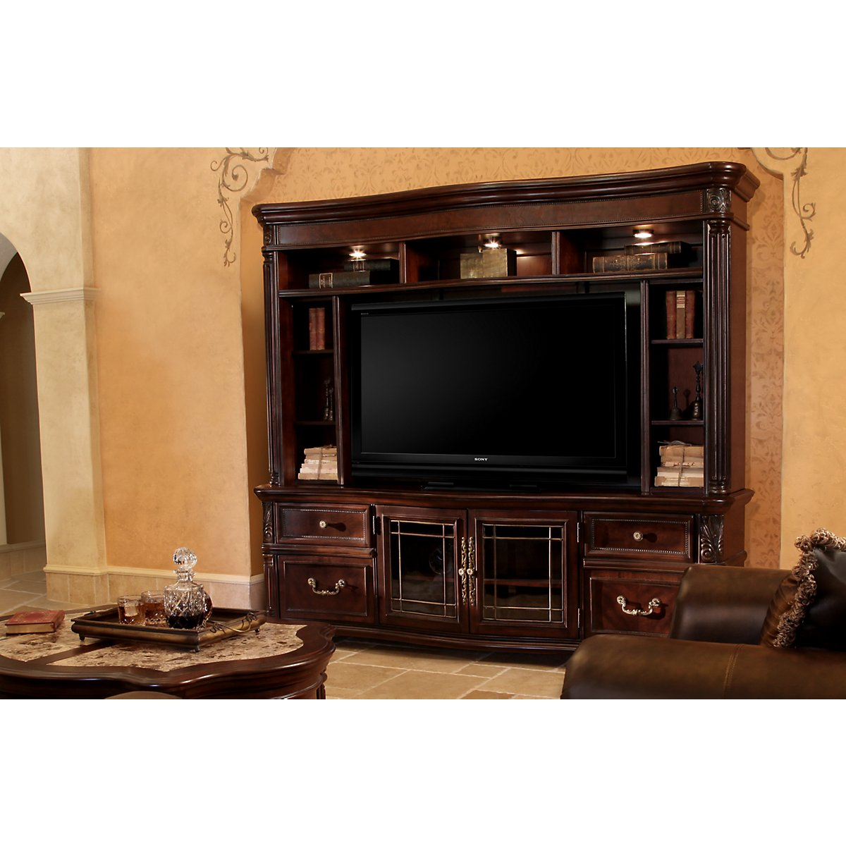 City Furniture Regal Dark Tone 86 Quot Tv Stand