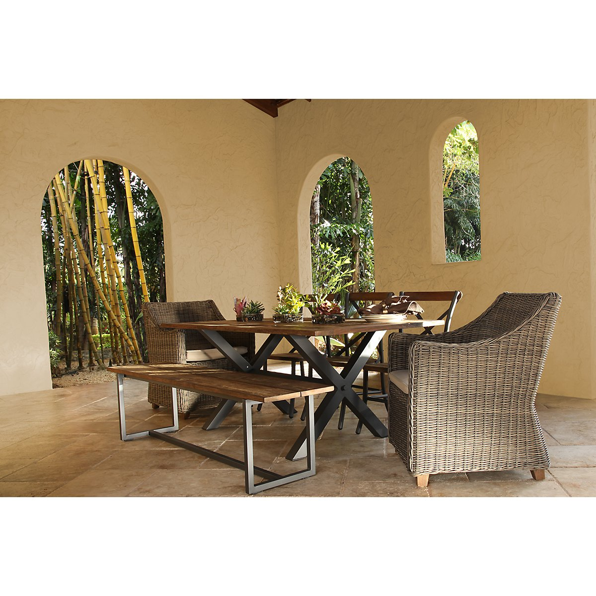 City Furniture Canyon Dark Tone 72 Rectangular Table