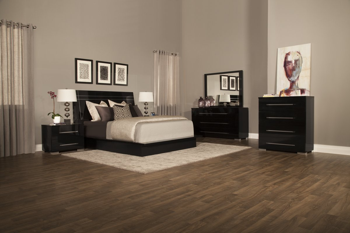 dimora bedroom set city furniture dimora3 black wood platform bed 11428