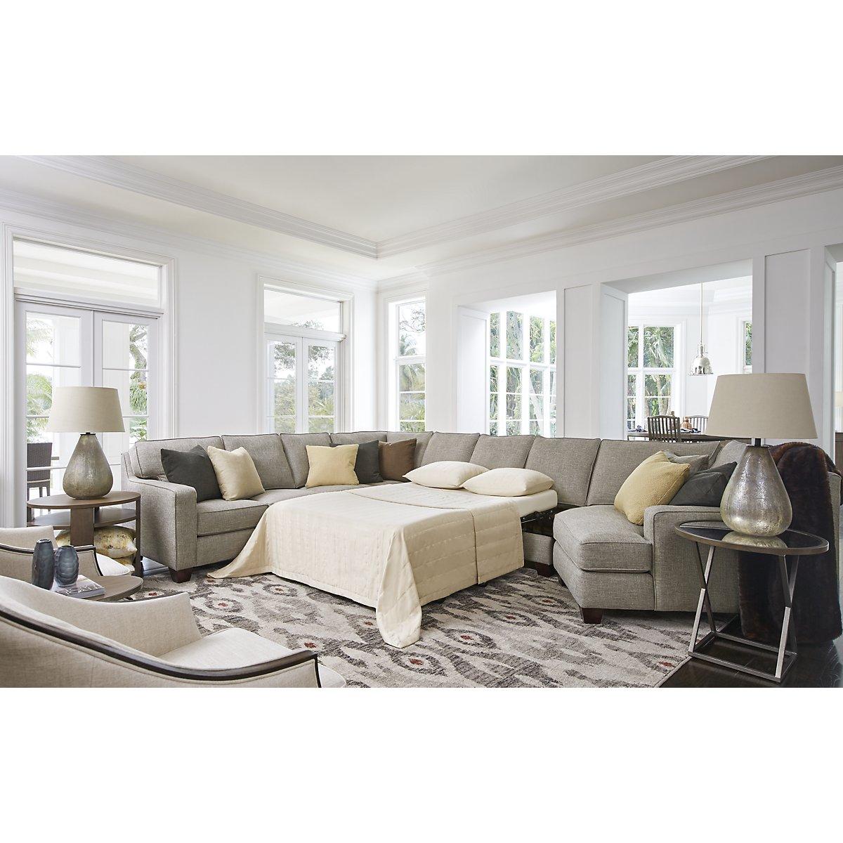 City Furniture: York Pewter Fabric Large Right Cuddler Memory Foam ...