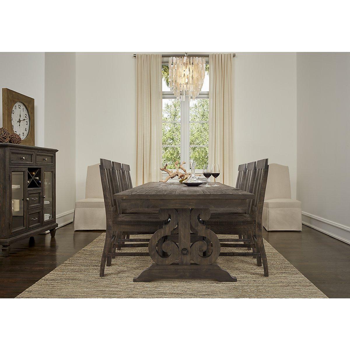 Sonoma Dark Tone Wood Dining Room