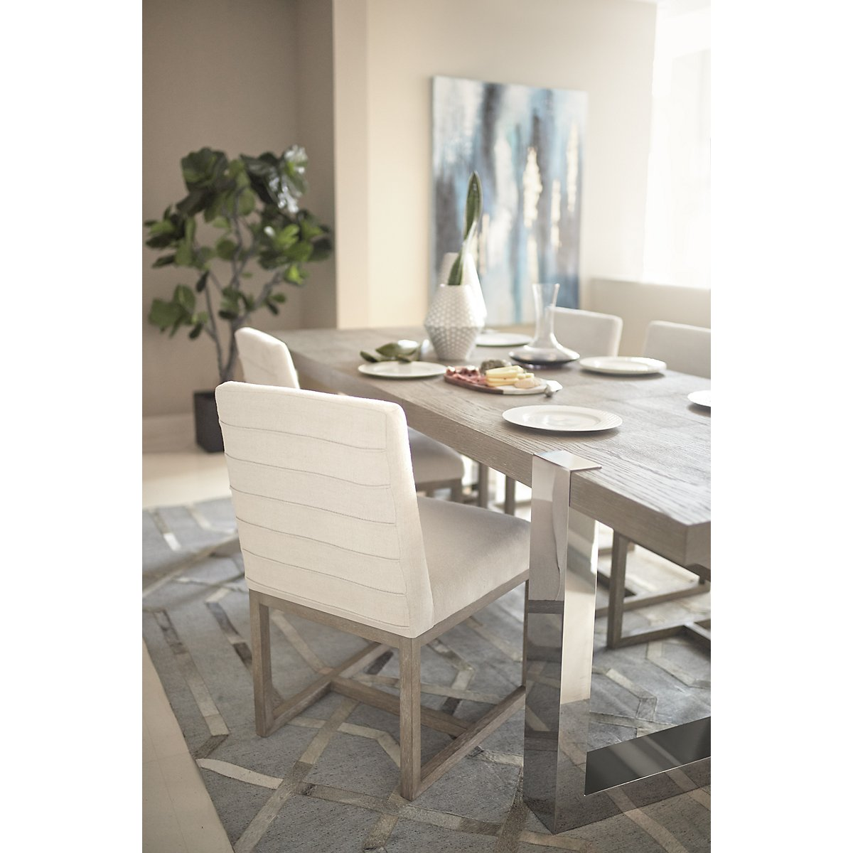 City Furniture Berlin White Upholstered Side Chair