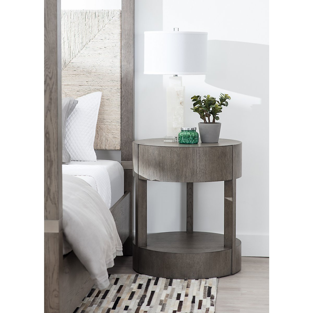 Calder Light Tone Wood Nightstand