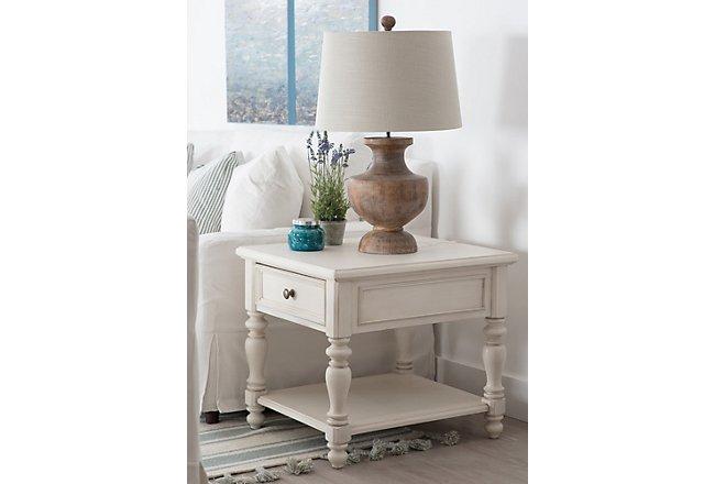 Savannah Ivory Wood End Table