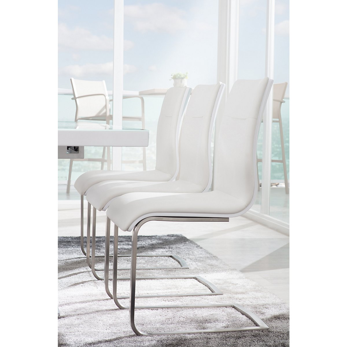 white fabric dining room chairs | Drake White Fabric Upholstered Side Chair | Dining Room ...