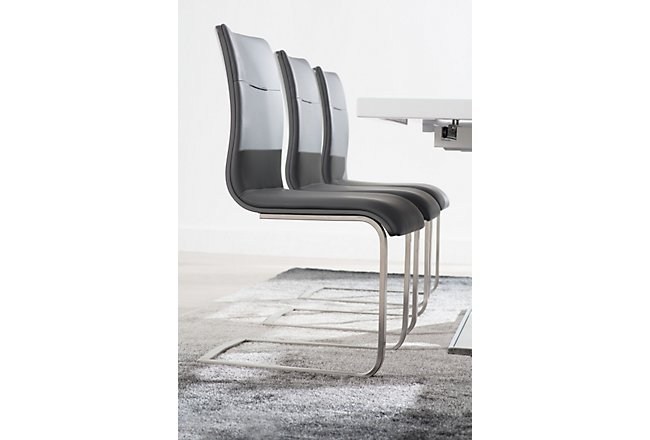 Drake Gray Fabric Upholstered Side Chair