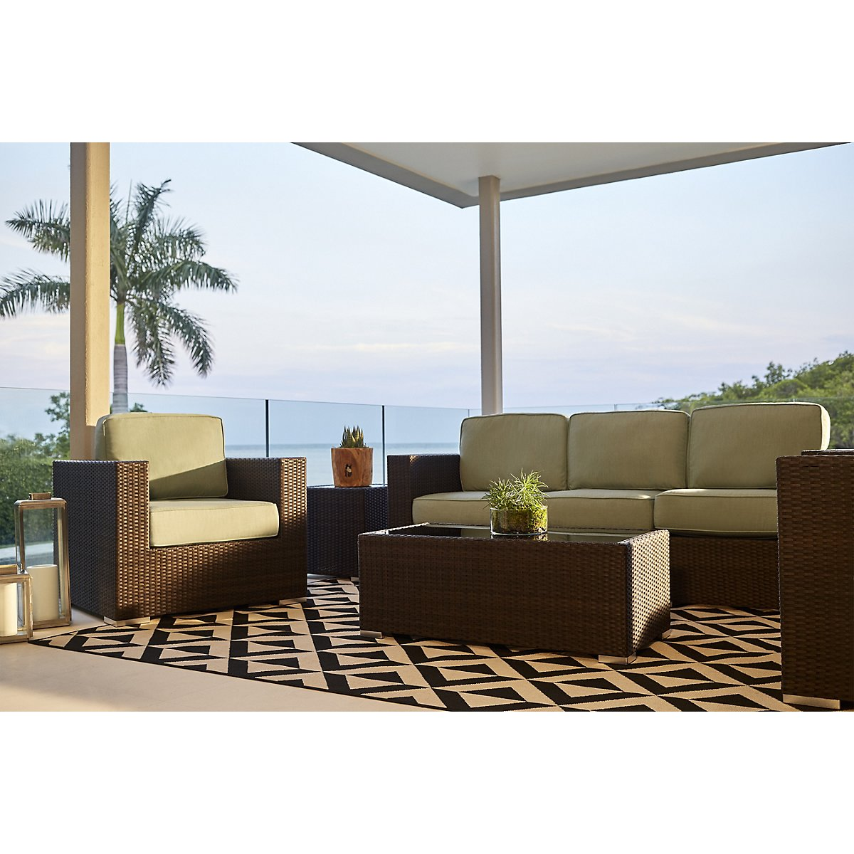 City Furniture: Fina Teal Outdoor Living Room Set on Outdoor Living Room Set id=34620