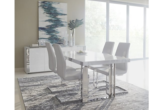 Harley White Wood Dining Room