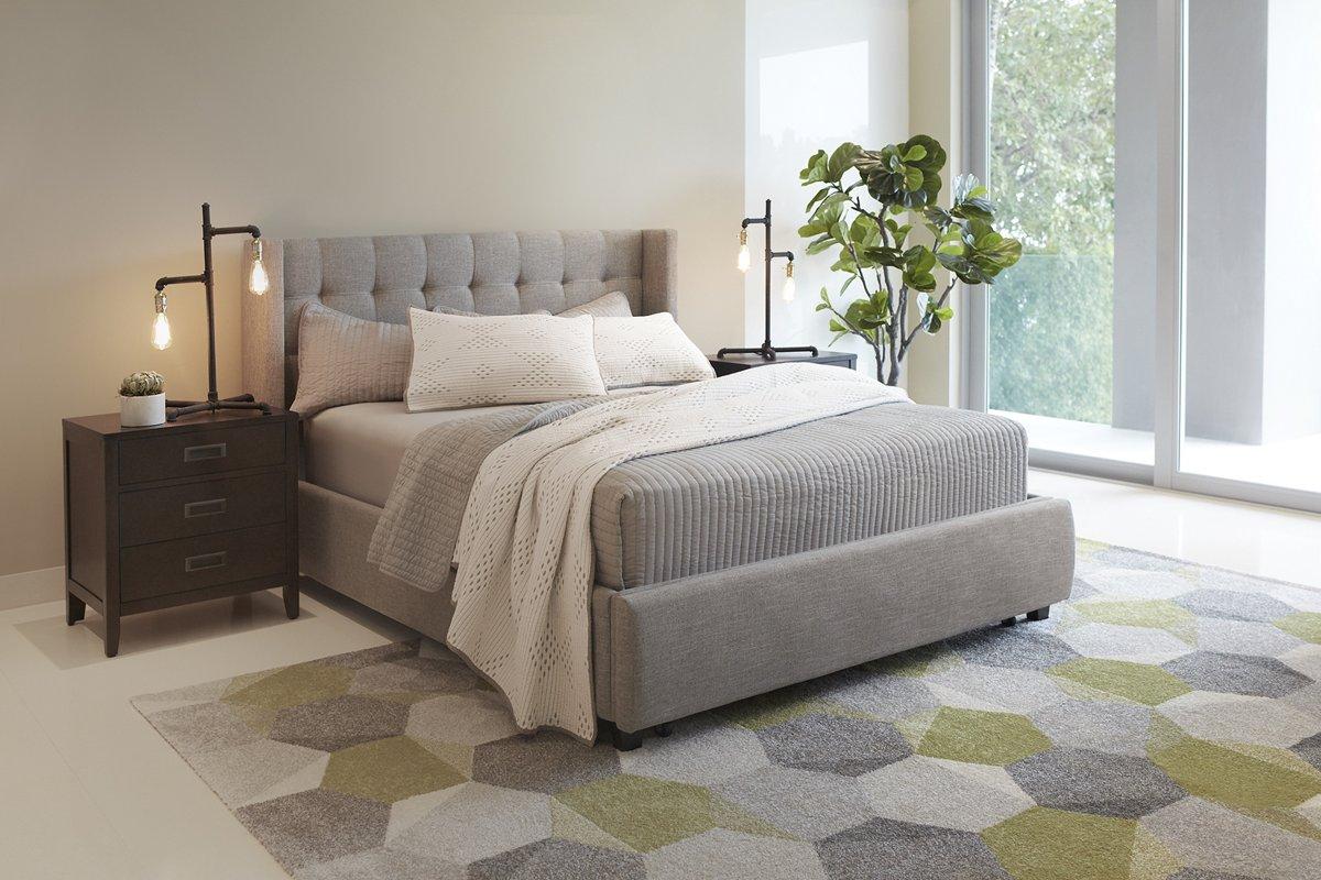 Chatham Pewter Fabric Platform Storage Bed