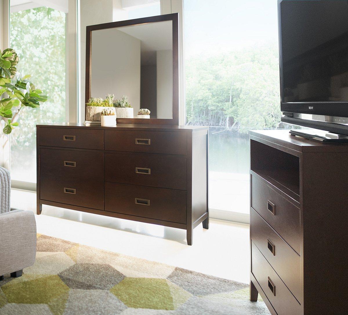 Chatham Dark Tone Wood Dresser & Mirror