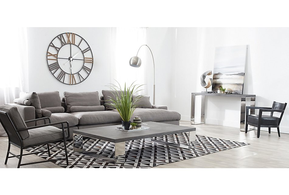 Fiore GRAY FABRIC Small Right Chaise Sectional