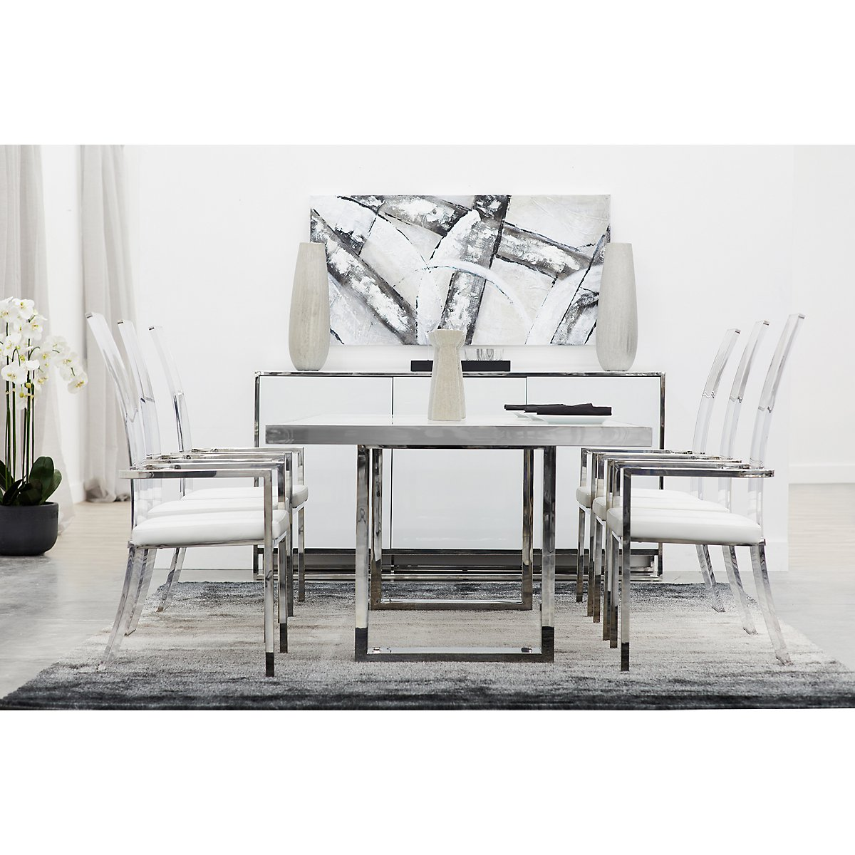 City Furniture State St White Rectangular Dining Room