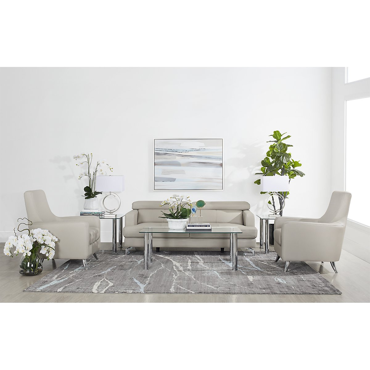 Napoli Glass Rectangular Coffee Table | Living Room Tables