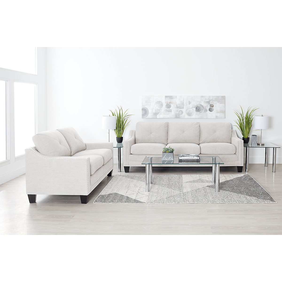 city furniture malone beige microfiber large sofa. Black Bedroom Furniture Sets. Home Design Ideas