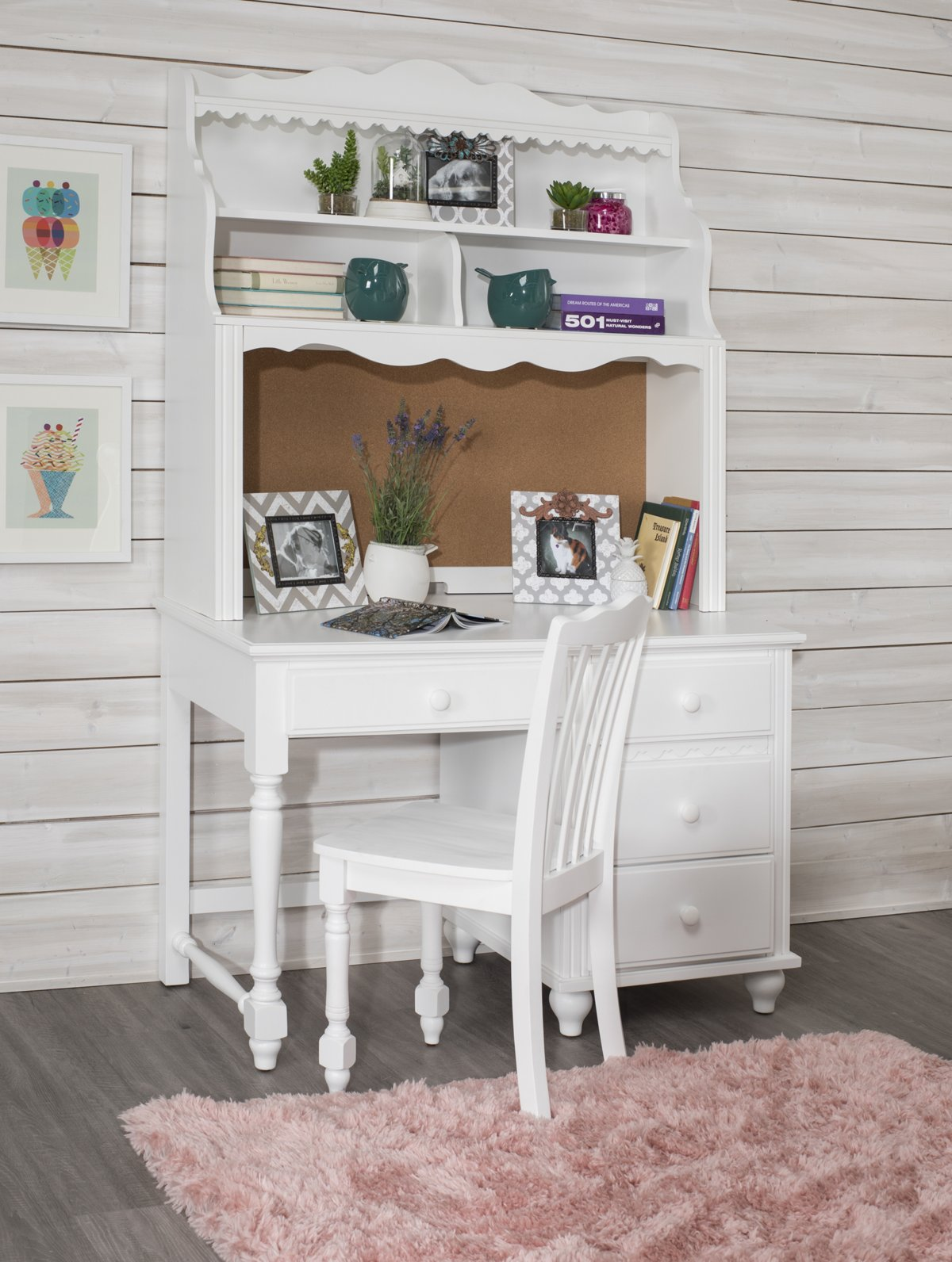 Lauren White Wood Chair