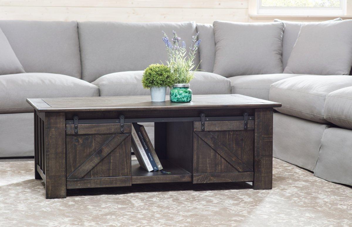 Garrett Dark Tone Wood Lift Coffee Table