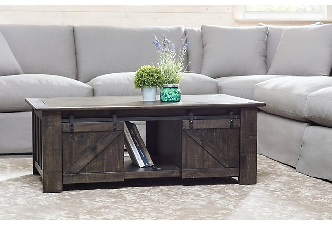 Garrett Dark Tone Wood Lift Coffee Table | Living Room - Coffee ...